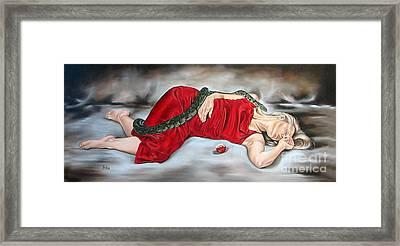 Eve's Temptation - Death Framed Print by Ilse Kleyn