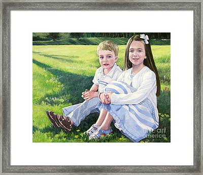 Evie And Kenneth Framed Print