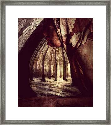 Framed Print featuring the digital art Evie Regrets by Delight Worthyn