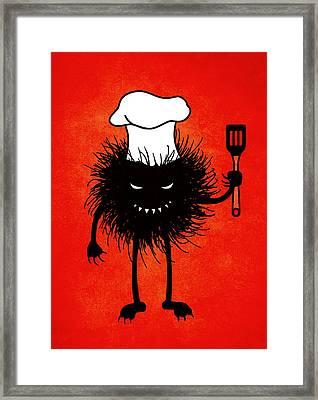 Evil Bug Chef Loves To Cook Framed Print by Boriana Giormova