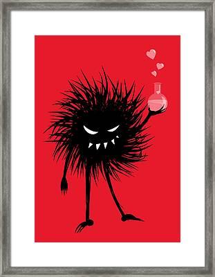 Evil Bug With A Love Potion Framed Print by Boriana Giormova