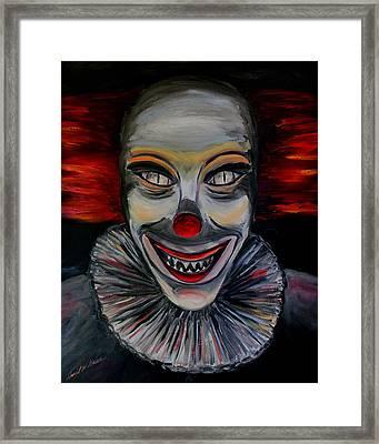 Evil Clown Framed Print by Daniel W Green