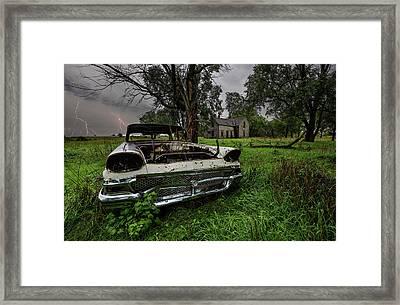 Evil Dead - Lightning Framed Print by Aaron J Groen