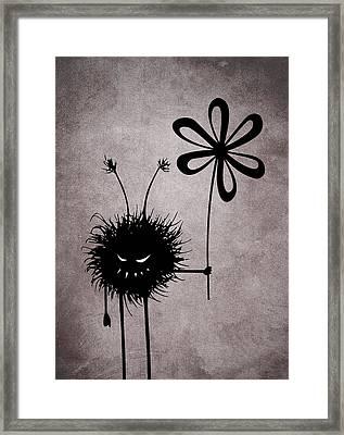 Evil Flower Bug Framed Print by Boriana Giormova