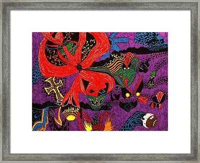 Evil Has A Face Framed Print by William Watson