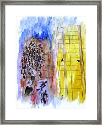 Evil In Action, Las Vegas Framed Print