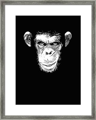 Evil Monkey Framed Print