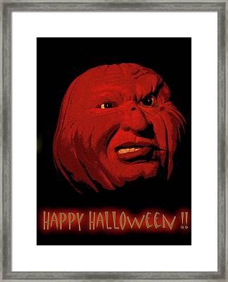 Evil Pumpkin Card Framed Print