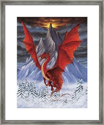 Evil Red Dragon Framed Print