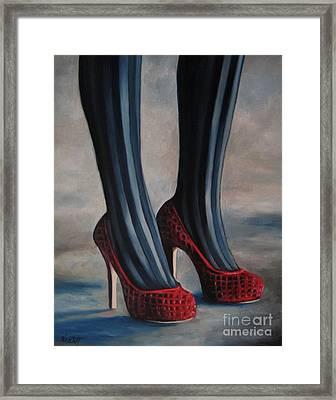 Evil Shoes Framed Print by Jindra Noewi