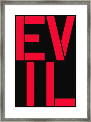 Evil Framed Print by Three Dots