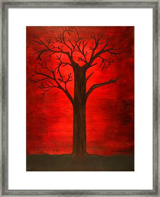 Evil Tree Framed Print