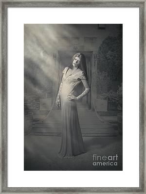 Evil Vintage Ghost At Scary Haunted Castle Framed Print by Jorgo Photography - Wall Art Gallery