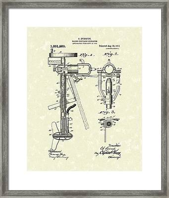 Evinrude Boat Motor 1911 Patent Art Framed Print by Prior Art Design