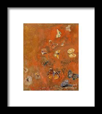 Orange Framed Prints