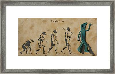 Evolution Framed Print by Judy Sherman