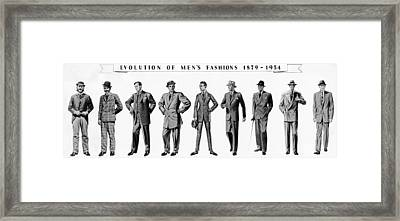 Evolution Of Menswear From 1879 Framed Print