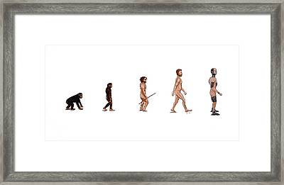 Evolution Of Rob Framed Print by Jennifer Lynch