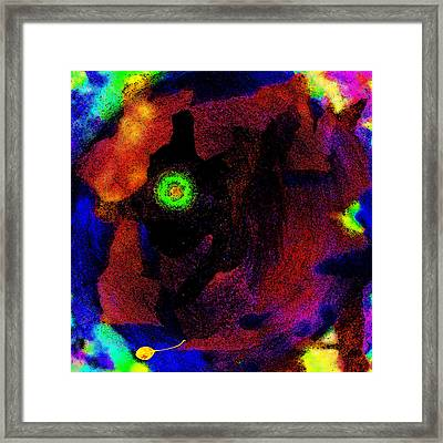 Evolution Of The Self In Chaos Framed Print by Mathilde Vhargon