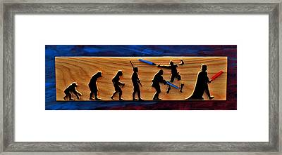 Evolution Of Darth Vader Framed Print by Michael Bergman