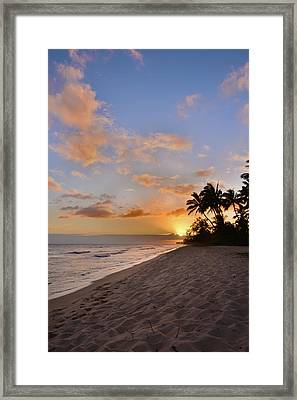 Ewa Beach Sunset 2 - Oahu Hawaii Framed Print