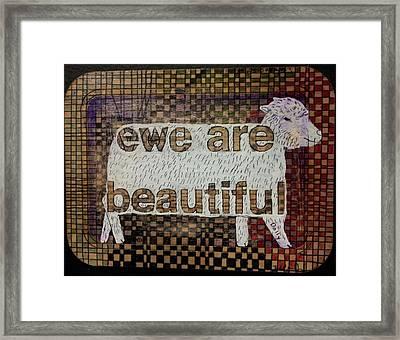 Ewe Are Beautiful Framed Print by William Douglas