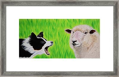 Ewe Talk'in To Me? Framed Print