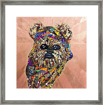 Ewok Star Wars Afrofuturist Collection Framed Print by Apanaki Temitayo M