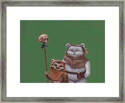 Ewoks Framed Print by Jasper Oostland