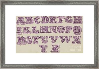 Example Alphabet  Framed Print by English School