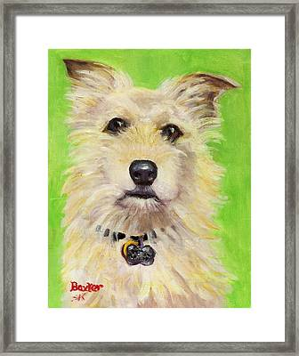Example Of Pet Portrait Framed Print