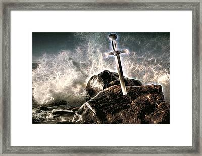 Framed Print featuring the digital art Excalibur by Pennie McCracken