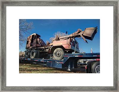 Excavator Framed Print by Timothy Hedges