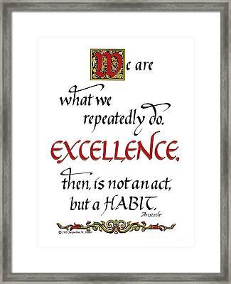 Excellence Framed Print