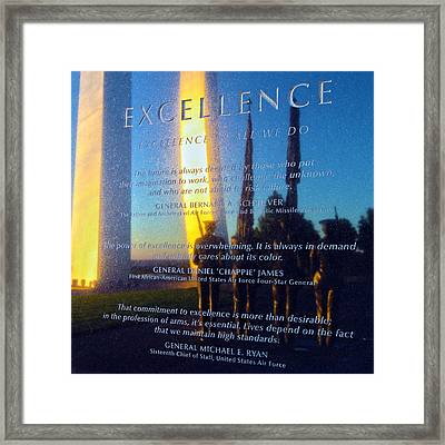 Excellence Framed Print by Mitch Cat