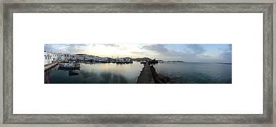 Excellent View Naoussa Paros Greece Framed Print by Colette V Hera  Guggenheim