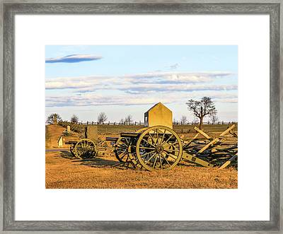 Excelsior Artillery Framed Print by Patricia Rich