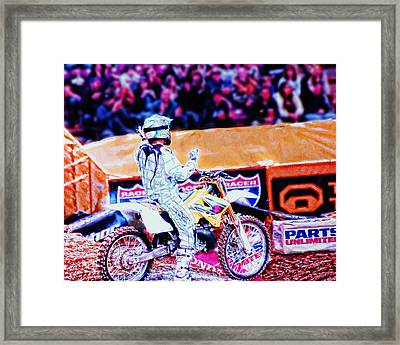 Exciting The Crowd Framed Print