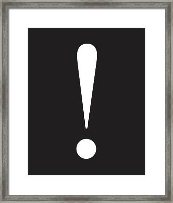 Exclamation Symbol Minimalist Poster Framed Print