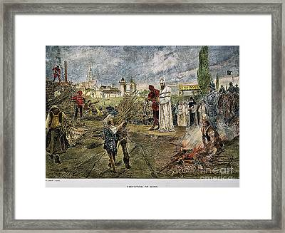 Execution Of Jan Hus, 1415 Framed Print by Granger