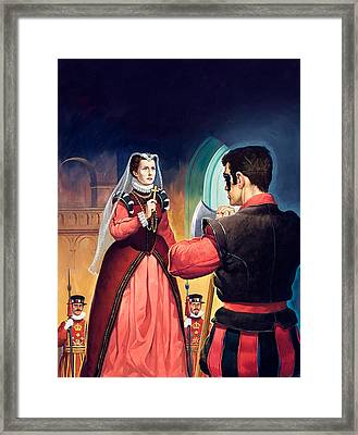 Execution Of Mary Queen Of Scots Framed Print by English School