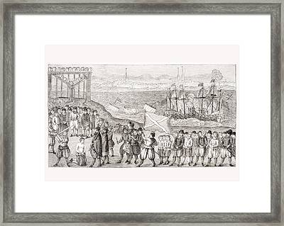 Execution Of The Celebrated Pirate Framed Print