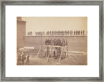 Execution Of The Conspirators Framed Print