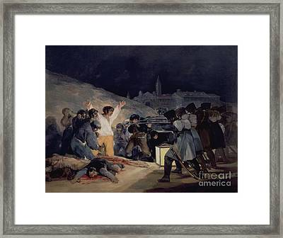 Execution Of The Defenders Of Madrid Framed Print by Goya