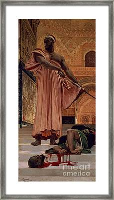 Execution Without Trial Under The Moorish Kings In Granada Framed Print by Henri Alexandre Georges Regnault