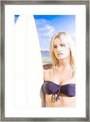 Exercise And Fitness Female Framed Print by Jorgo Photography - Wall Art Gallery