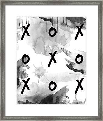 Exes And Ohs Framed Print by D Renee Wilson