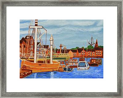 Exeter Ship Canal  Framed Print