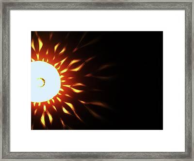 Framed Print featuring the photograph Exflame by Cyryn Fyrcyd