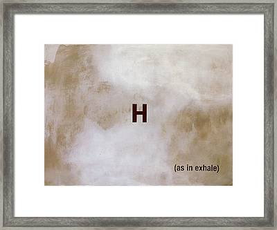 Exhale Framed Print by Andrew Crane